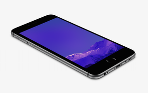 Purple Mountain Wallpaper for iPhone 6 and 6 Plus by kiwimanjaro