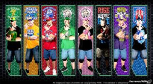 WWE John Cena Multi-Color Wallpaper Widescreen V2 by Timetravel6000v2