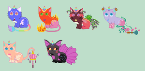 OPEN leftover unicats! 4 LEFT by xxliquidrainbowxx