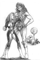 Rogue and She-Hulk by Choppic