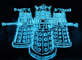 dalek neon by AlanSchell