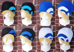 Pokemon X and Y Trainer Hats - Blues by akiseo