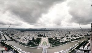 Seine from Eiffel Tower by janvanepen