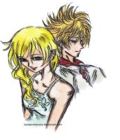 Namine and Roxas by dzetaWMDunion