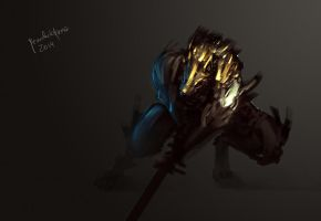 Gnoll Warlord 30min spitpaint challenge by benedickbana
