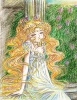 My 1st drawing of Sailor Moon in 2005 by Tyutya