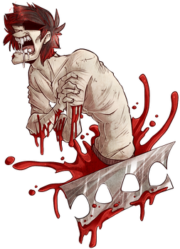 Screaming and bleeding by BlasticHeart