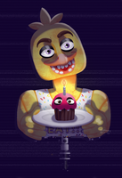 [FNAF - Chica] Eating time! by SummainWolf