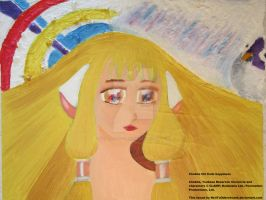 Chobits Chi finds happiness (oil painting) by NeilTuOderschvank