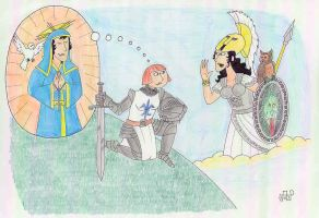 Joan of Arc Mistaking the Goddess Athena For St... by EmperorNortonII