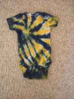 Tie Dye Onesie Blue and Yellow by Spudnuts