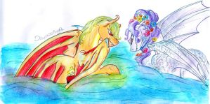 Moonlit Waters - Art Trade by Dawn22Eagle