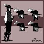 character head designs by Monomus