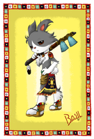 Aboriginal Bunny: Basil by Evelynism