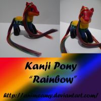 Kanji Pony Rainbow 2 by AnimeAmy