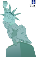 Pony Statue of Liberty flipped by BB-K