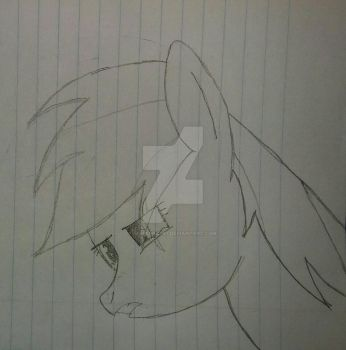 WIP-Rainbow Dash about to cry  by Sniperbat97