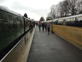 Old vs new - Bluebell Steam Railway East Grinstead by Fragsey