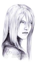 FF7 - YAZOO - Pen Drawing by Washu-M