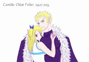 REQUEST: Lucy Heartfilia and Laxus Dreyar by CobraxKinana