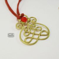 Hungarian Soutache Pendant by Zsamo
