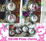 SISTAR Bottle Cap Cell Phone Charms by EmpressTerra