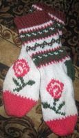 Country Floral Socks by Giselle-M