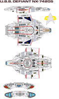 USS Defiant NX-74205 by bagera3005