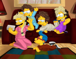 Maggie Simpson, Babysitter by simpspin