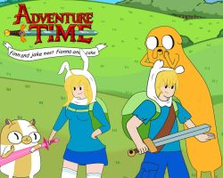 Finn And Jake Fionna And Cake new cover by FinnDude