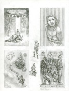 Various Cover Sketches by artistic-engine