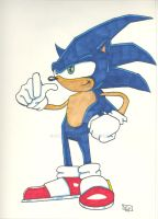 Sonic in Primacolor pen by SurfTiki
