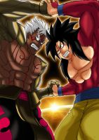 Asura vs Goku by Brunohatake3