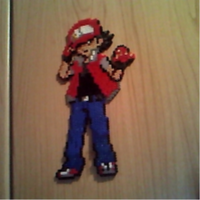 Red character Original clothes perler beads by Cimenord
