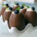 chocolate eggs with white chocolate mousse by Pokakulka
