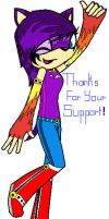 Thanks for your support sonicshadowcaught! by allsoniccouplelover
