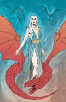 Mother of Dragons by MikeOppArt