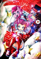 mlp Pinkie Pie and rose merry xmas by skyshek