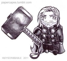 Thor chibs by IndyScribbable