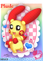 Plusle girl's lollipop by Bowser2Queen