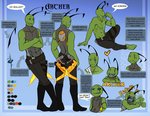Archer Reference Sheet by TheEvilTeaDrinker