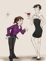 30DOTP-Sherlolly-Day6-Dress like each other by lexieken