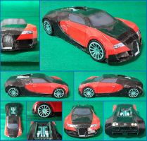 Bugatti Veyron Papercraft by Mironius