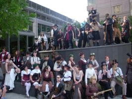 Steampunk Gathering - AB '09 by BlameTheEconomy