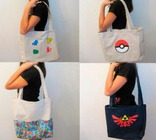 Tote Bags For Sale at Storenvy by CL-Pinkskull