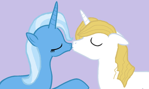 Trixie and Blueblood kiss by 3D4D