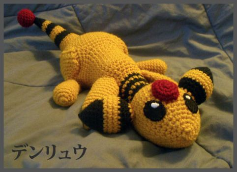 Ampharos Laying Down by TheHarley