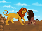 Simba and Kovu? by TheDreamfail