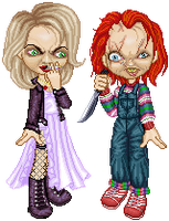 CHUCKY and his Bride by Cherieosaurus