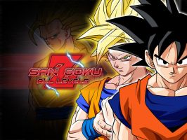 DB Characters Wallpapers : San Goku All Levels by jin-05